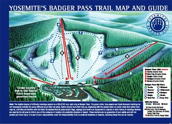 Badger Pass Ski Resort Piste Map