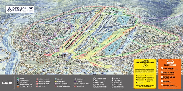 Berkshire East Piste Map