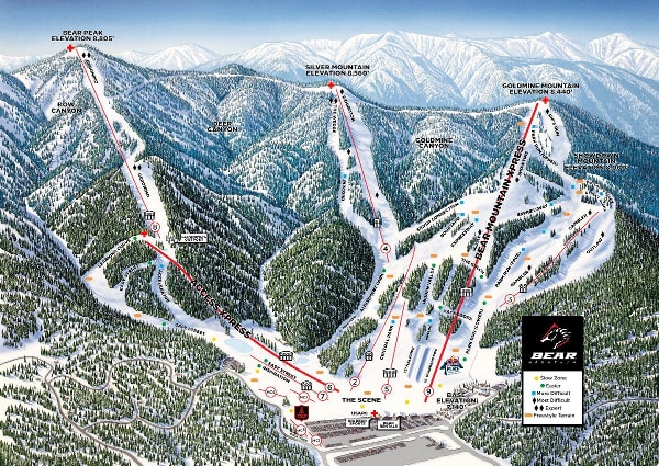 Big Bear Ski Resort Piste Map