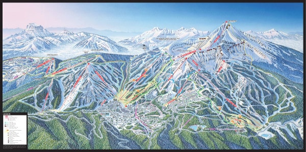 Big Sky Ski Resort Piste Map