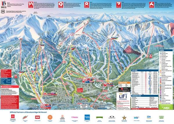 Breckenridge Piste Maps
