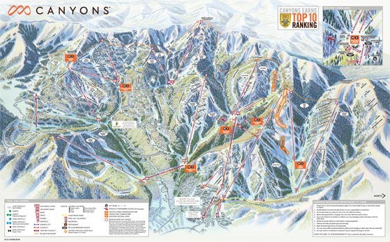The Canyons Ski Resort Piste Map