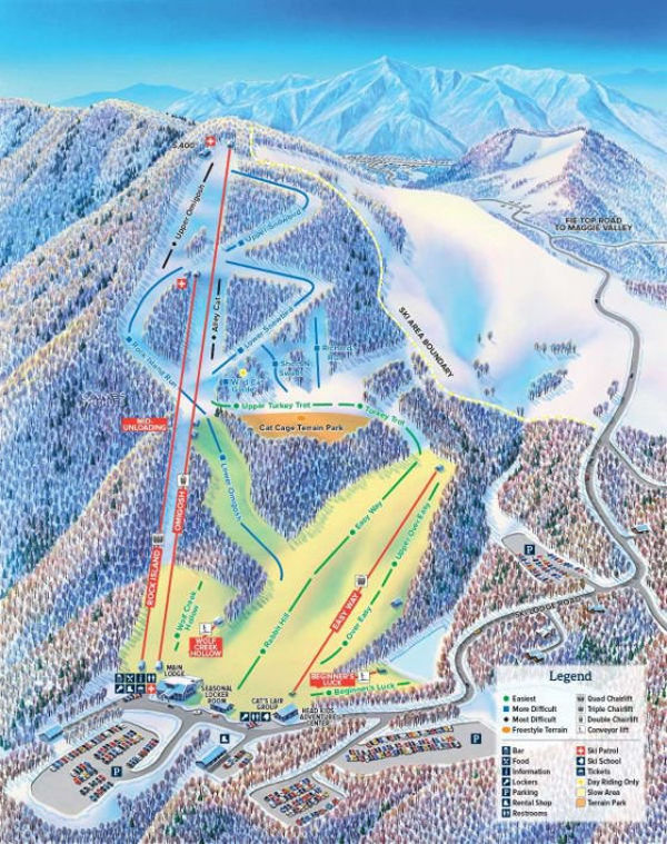 Cataloochee Piste Map