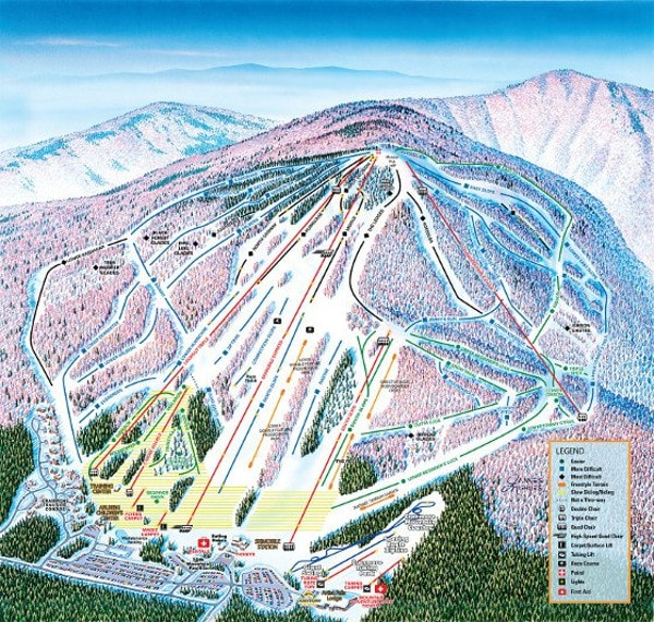 Cranmore Ski Resort Piste Map