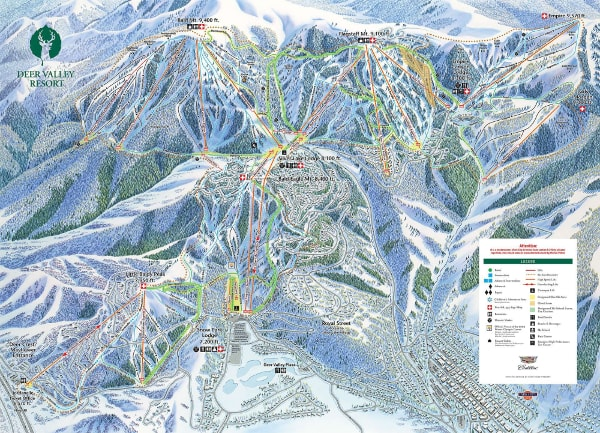Deer Valley Piste Map