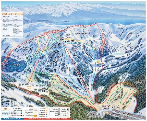 Eagle Crest Ski Resort Piste Map