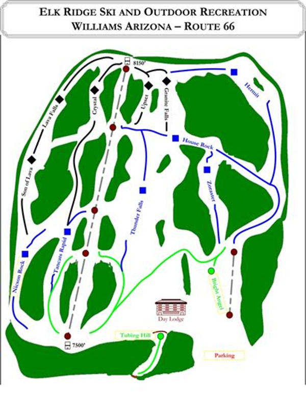 Elk Ridge Piste Map