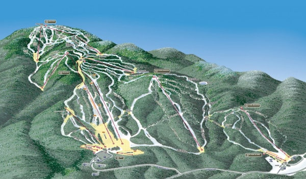 Gore Mountain Ski Resort Piste Map