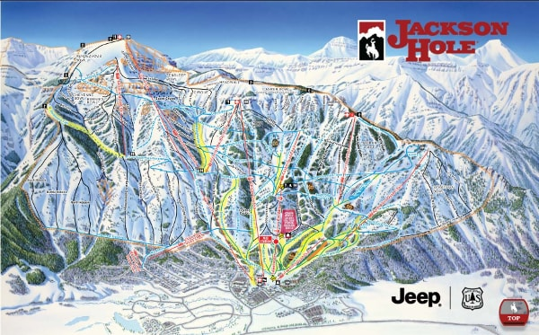 Jackson Hole Ski Resort Piste Map