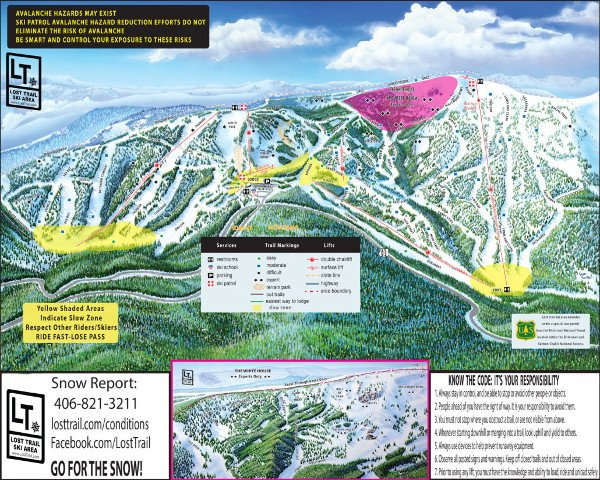 Lost Trail Powder Mountain Piste Map