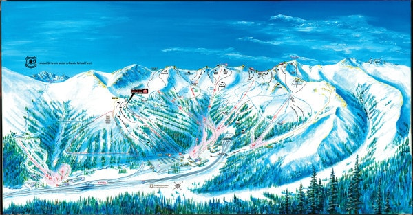 Loveland Ski Resort Piste Map