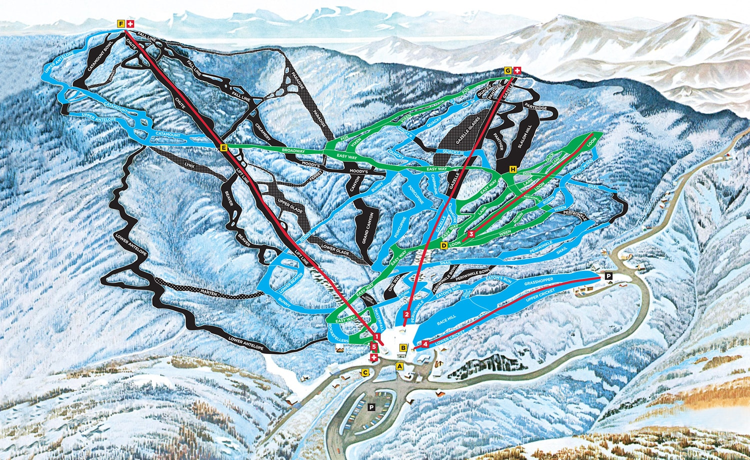Mad River Glen Ski Resort Piste Map