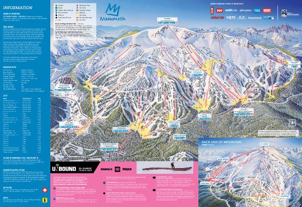 Mammoth Ski Resort Piste Map