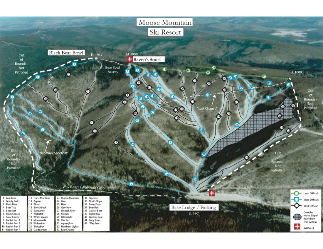 Moose Mountain Piste Maps