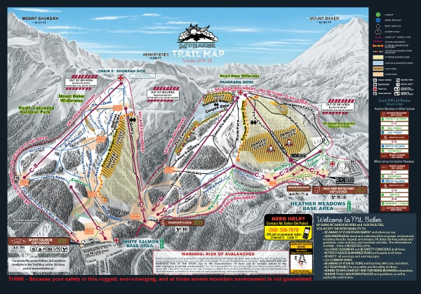 Mount Baker Ski Resort Piste Map