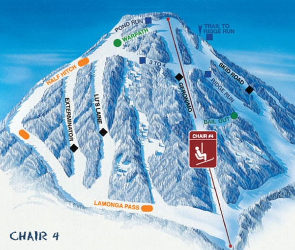 Mount Spokane Resort Piste Map