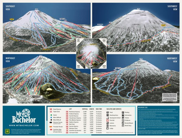 Mount Bachelor Ski Resort Piste Map