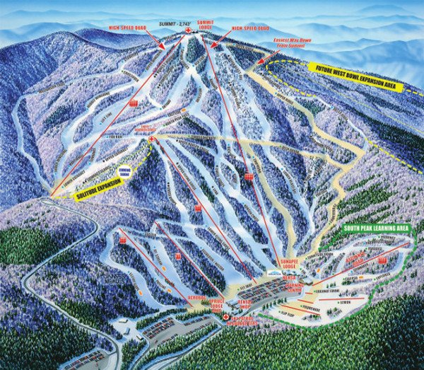 Mount Sunapee Ski Resort Piste Map