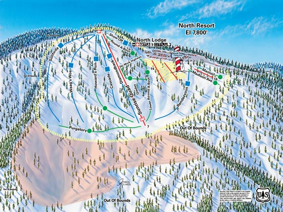 Mountain High Ski Resort Piste Map North