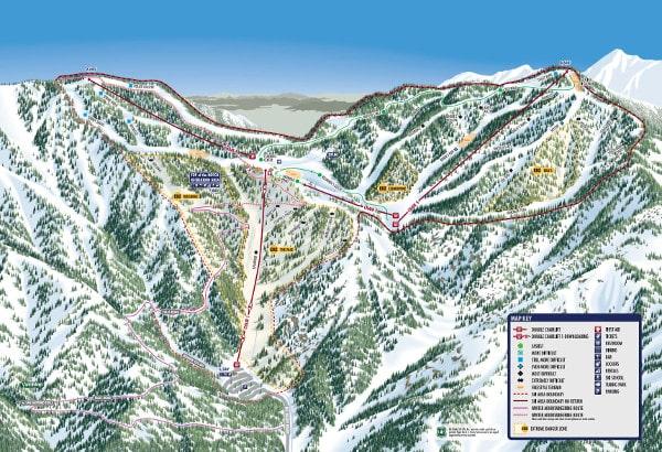 Mount Baldy Piste Maps