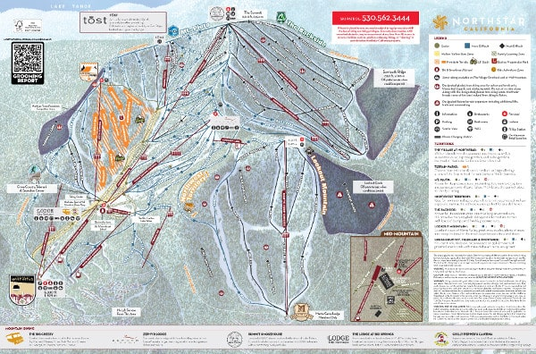 Northstar at Tahoe Ski Resort Piste Map