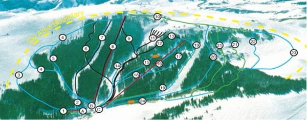 Pomerelle Ski Resort Piste Map