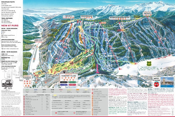 Purgatory Ski Resort, Colorado Piste Map