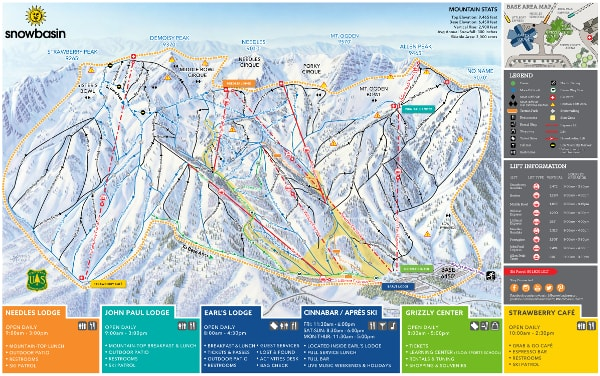 Snowbasin Ski Resort Piste Map