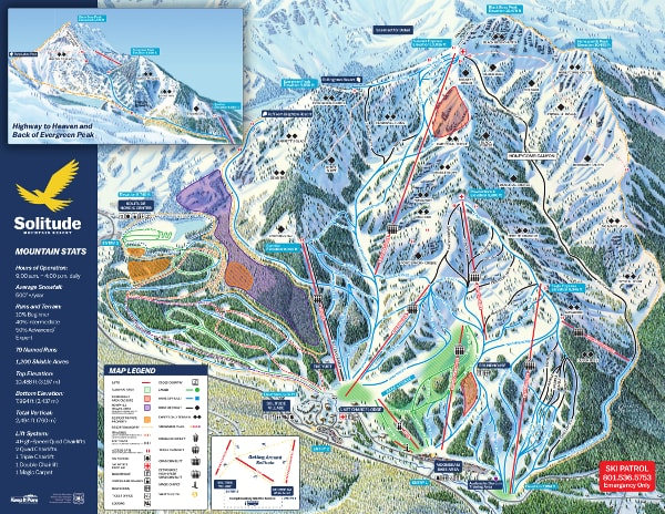 Solitude Ski Resort Piste Map