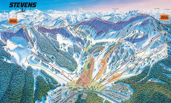 Stevens Pass Resort Piste Map Front