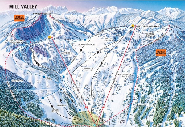 Stevens Pass Resort Piste Map