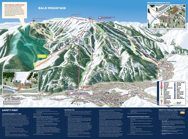 Sun Valley Bald Mountain Ski Resort Piste Map