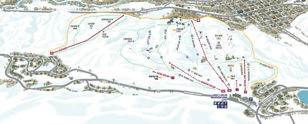 Sun Valley Dollar Mountain Ski Resort Piste Map