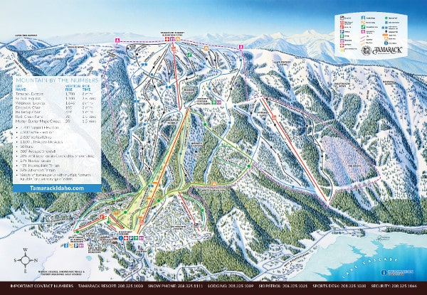 Tamarack Ski Resort Piste Map