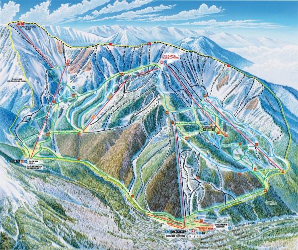 Taos Ski Valley Piste Maps Valley Usa Map on