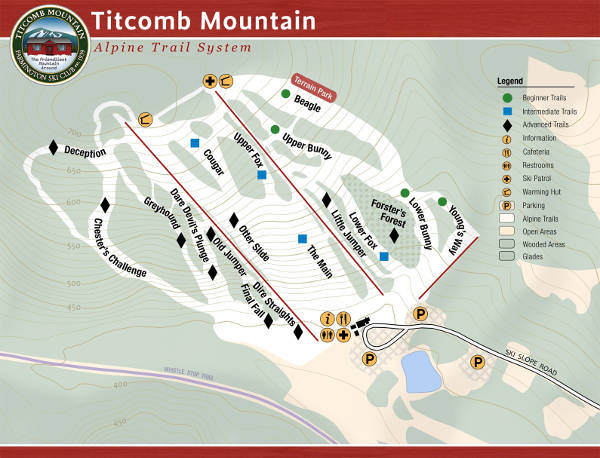 Titcomb Mountain Piste Map