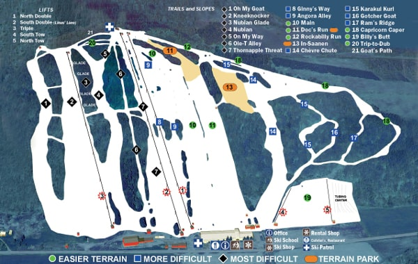 Toggenburg Ski Resort Piste Map