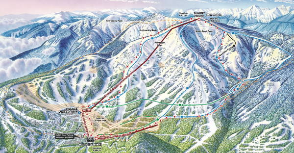 Whitefish Uphill Piste Map
