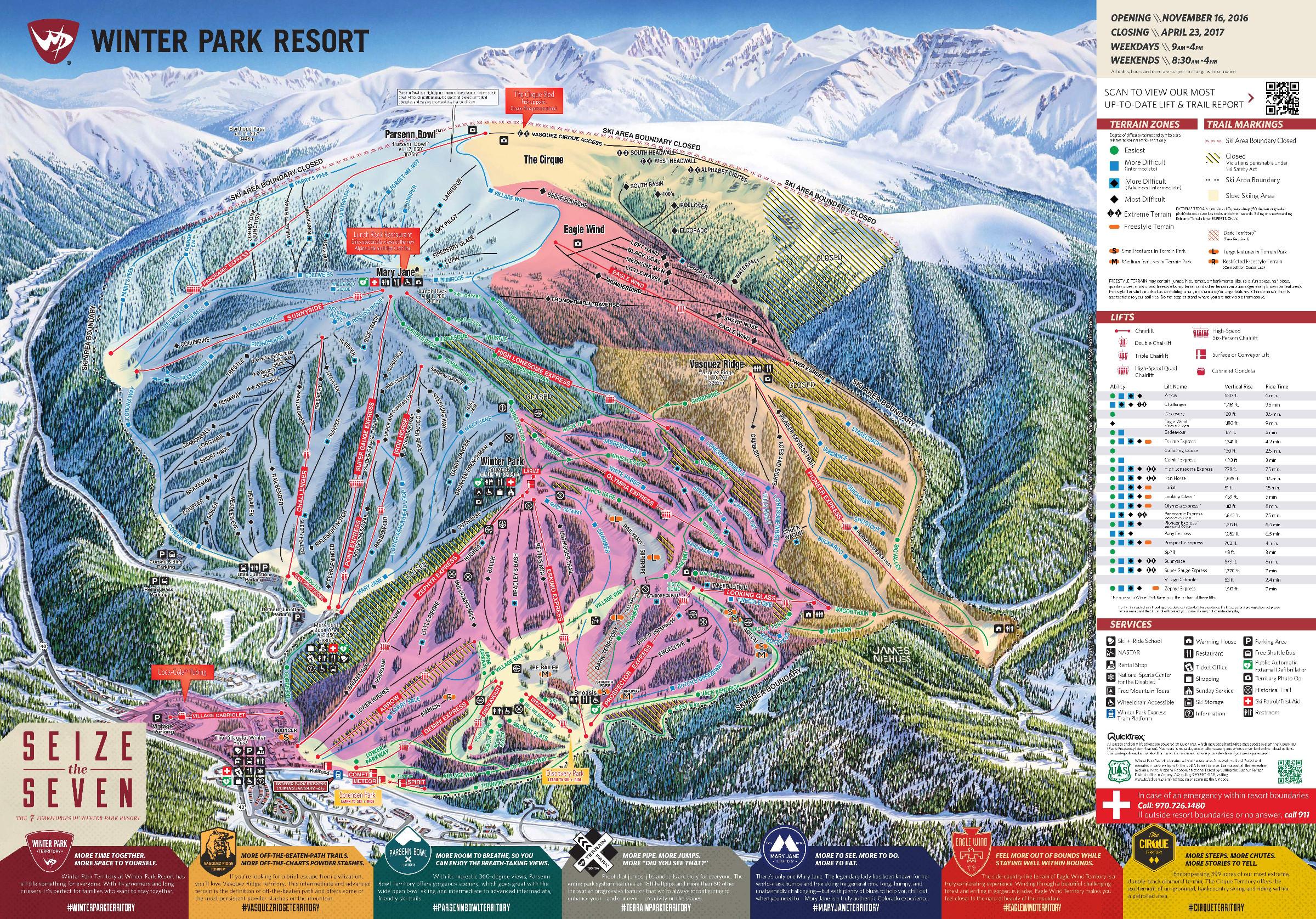 Winter Park Piste Maps