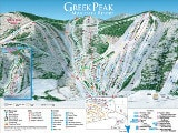 Greek Peak Piste Map